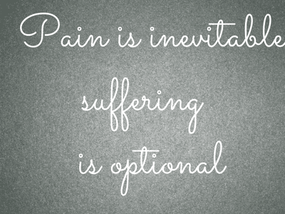 pain is inevitable text